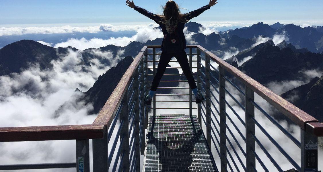 woman at mountain top